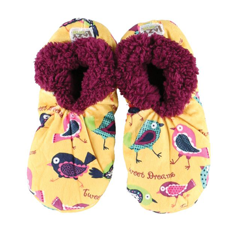 Lazy One Adult Fuzzy Feet Tweet Dreams Slippers