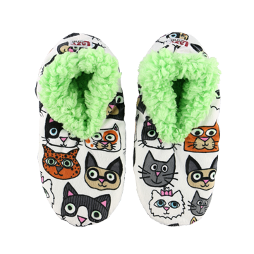Lazy One Catitude Fuzzy Feet Adult Slippers