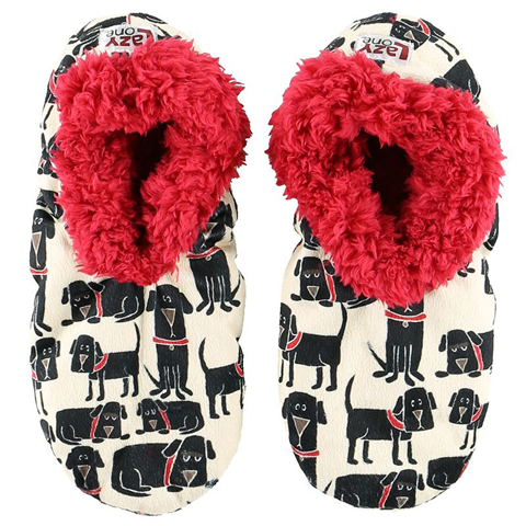 Lazy One Adult Ruff Night Fuzzy Feet Slippers