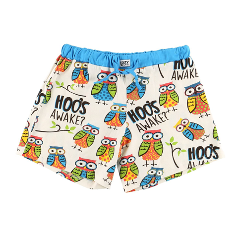 Lazy One Hoo's Awake Women's Boxer