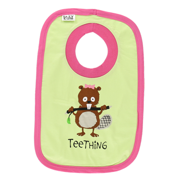 Lazy One Pink Teething Bib