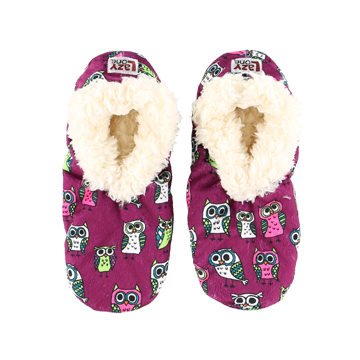 Lazy One Kids Night Owl Fuzzy Feet Slippers