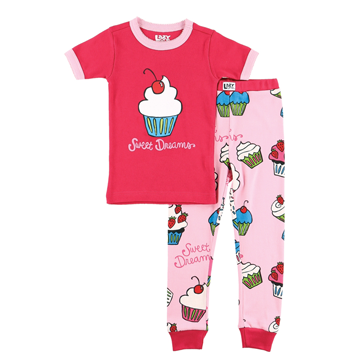 Lazy One Sweet Dreams Cupcake Kids PJ Set