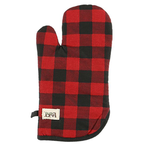 Lazy One Moose Plaid Oven Mitt