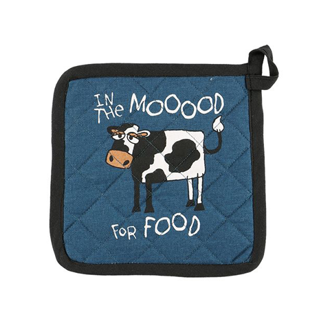 Lazy One Mood For Food Cow Pot Holder