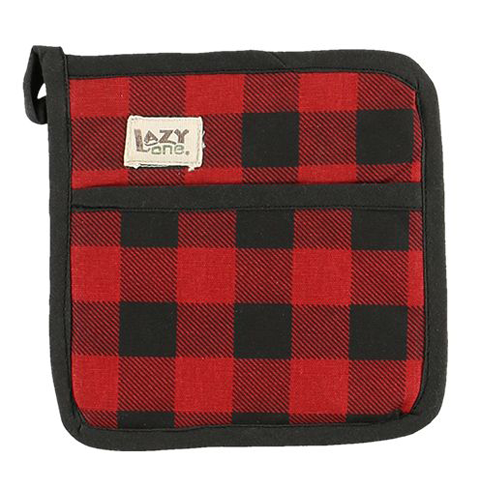 Lazy One Moose Plaid Pot Holder = 1 left in stock