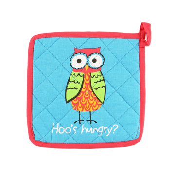 Lazy One Hoos Hungry Potholder