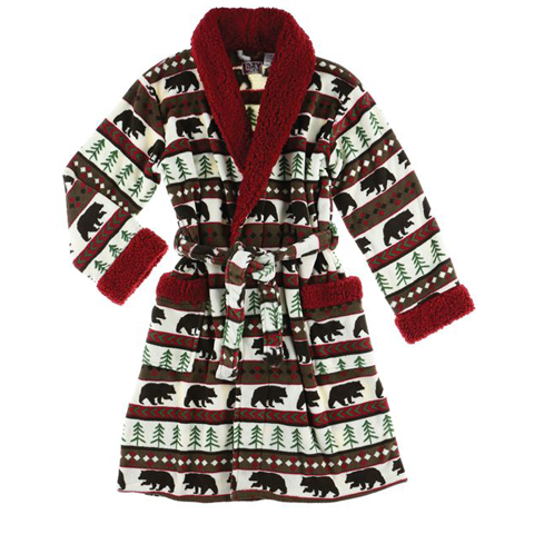 Lazy One Bear Fair Isle Womens Bathrobe