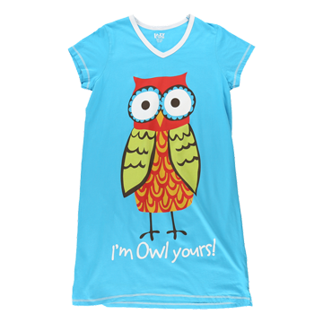Lazy One Owl Yours Vneck Nightshirt