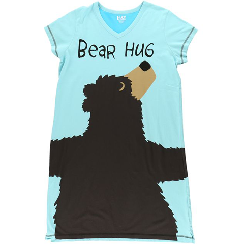 Lazy One Bear Hug V-Neck PJ Nightshirt
