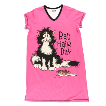 Lazy One Bad Hair Day Vneck Nightshirt