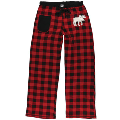 Lazy One Moose Plaid Women PJ Pant