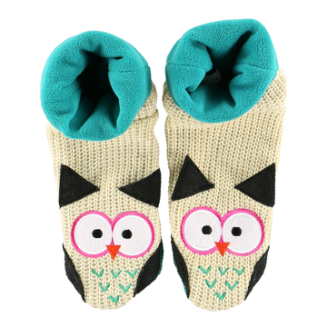 Lazy One Owl Woodland Slippers
