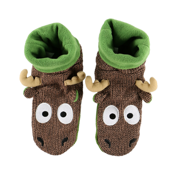 Lazy One Moose Woodland Slipper