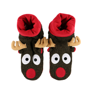 Lazy One Reindeer Woodland Slippers