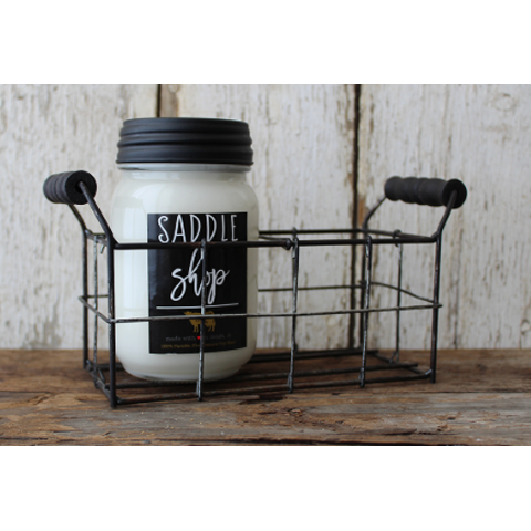 Milkhouse 2 Cell Metal Mason Jar Holder