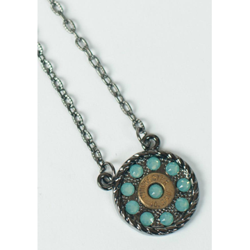 Pretty Hunter Round Rebel Turquoise Necklace