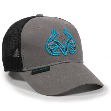 Realtree Charcoal & Blue Trucker Hat