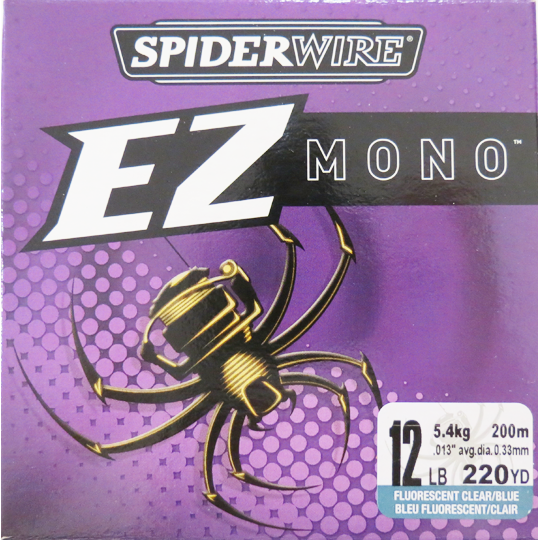 Spiderwire Ez Mono Fishing Line - Clear/Blue