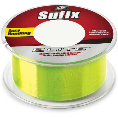 Sufix® Elite Monofilament Hi-Vis Yellow 330 Yards