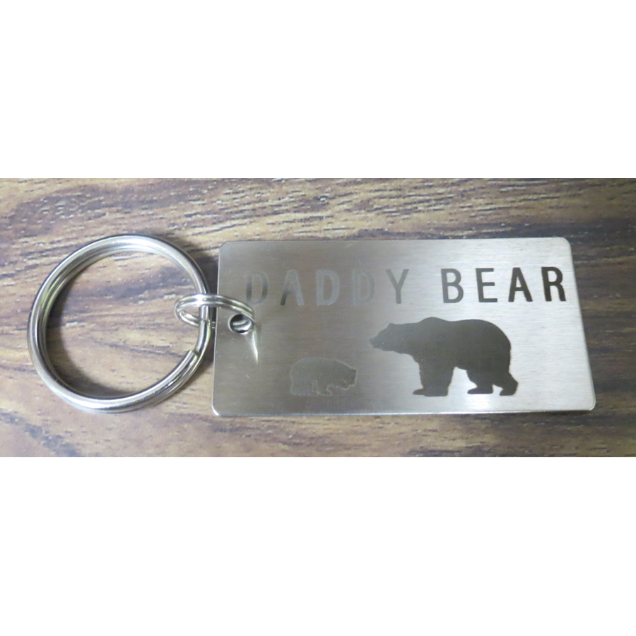 Daddy Bear One Cub Keychain