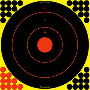 SHOOT-N-C® 17.25 BULL'S-EYE TARGETS - 5 PACK