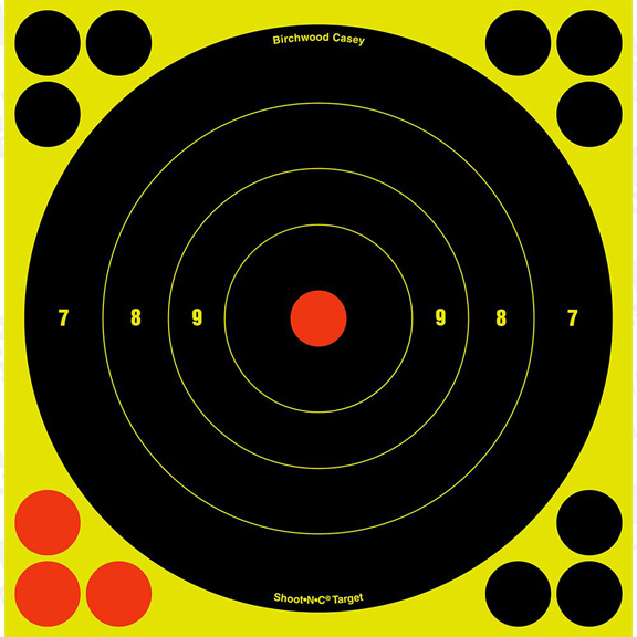 Shoot-N-C 6 Bull's-Eye Target - 12 Pack = CURRENTLY OUT OF STOCK