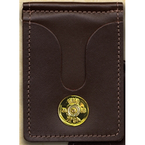 12 Gauge Gold Brown Money Clip