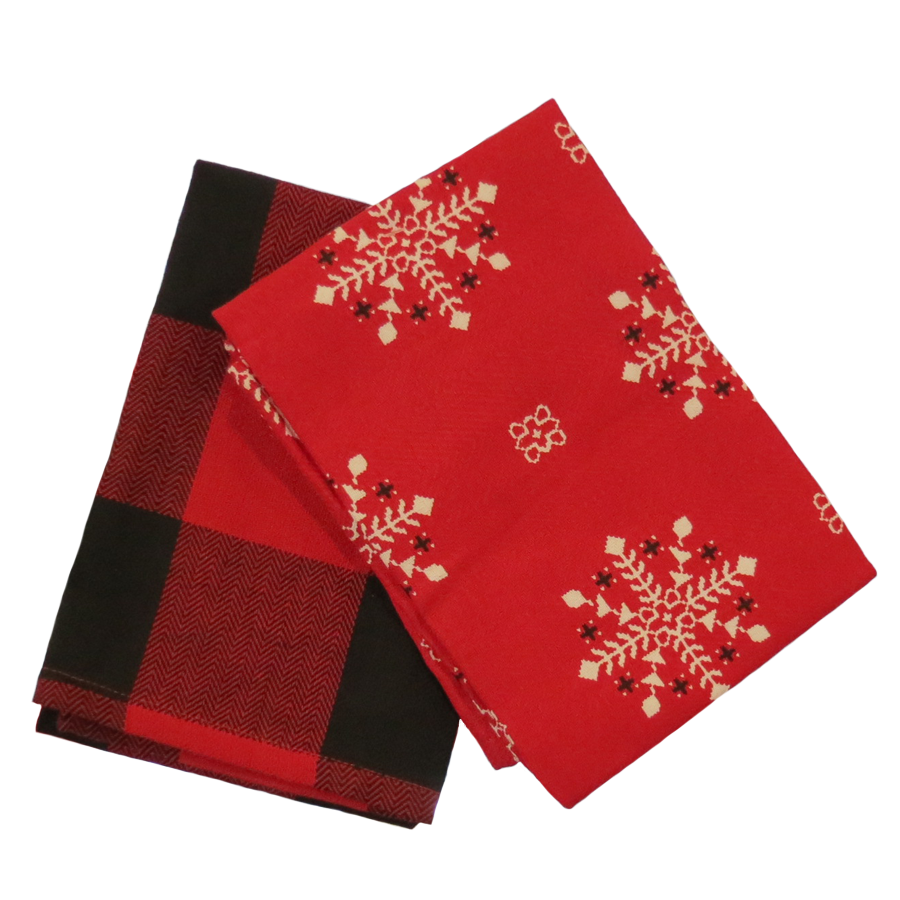 Lodge Snowflake Dishtowel set of 2