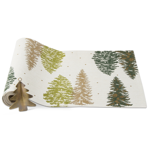 Greenwood Trees Table Runner & Ornament Set