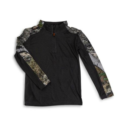 Trailcrest Youth Mossy Oak Impulse 4-Way Stretch 1/4 Zip