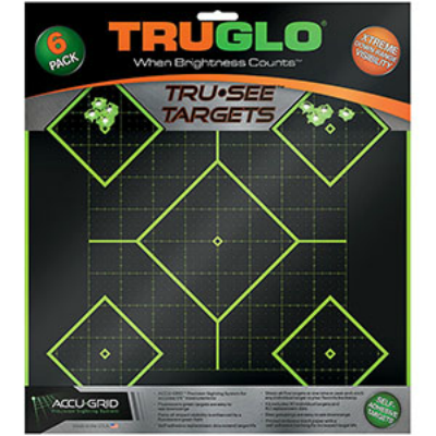 TruGlo Tr-See Targets - 5 Diamond 12x12 - 6 Pack