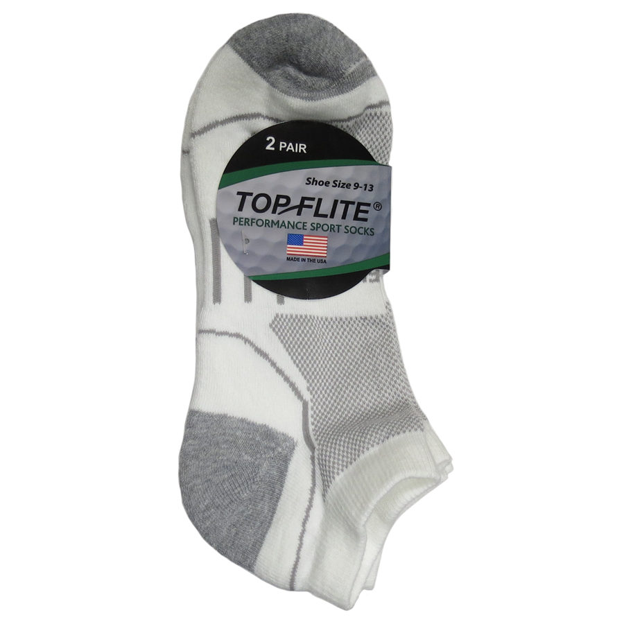 Top Flite Half Cushion Low Cut Socks - 2 Pack