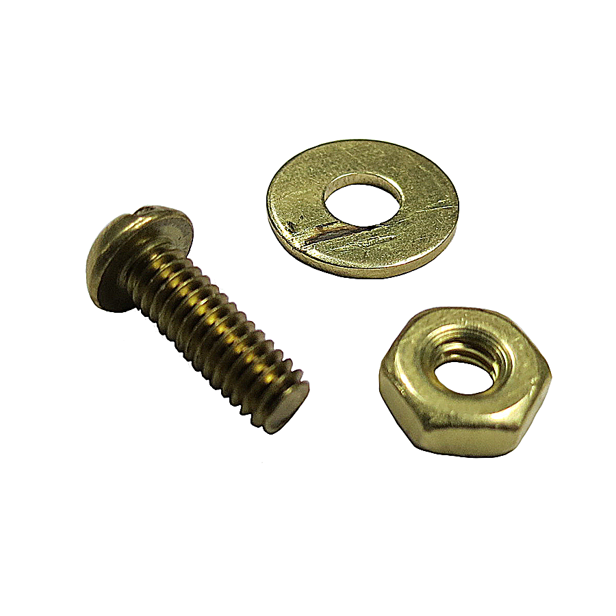 Brass Bolt, Nut and Washer