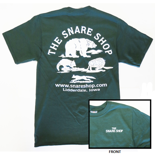 SNARE SHOP T-SHIRT - FOREST GREEN