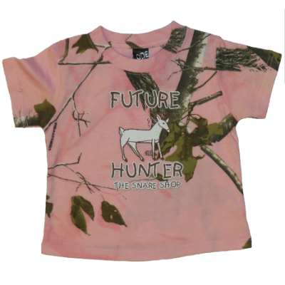 SNARE SHOP FUTURE HUNTER TODDLER SHIRT - PINK CAMO