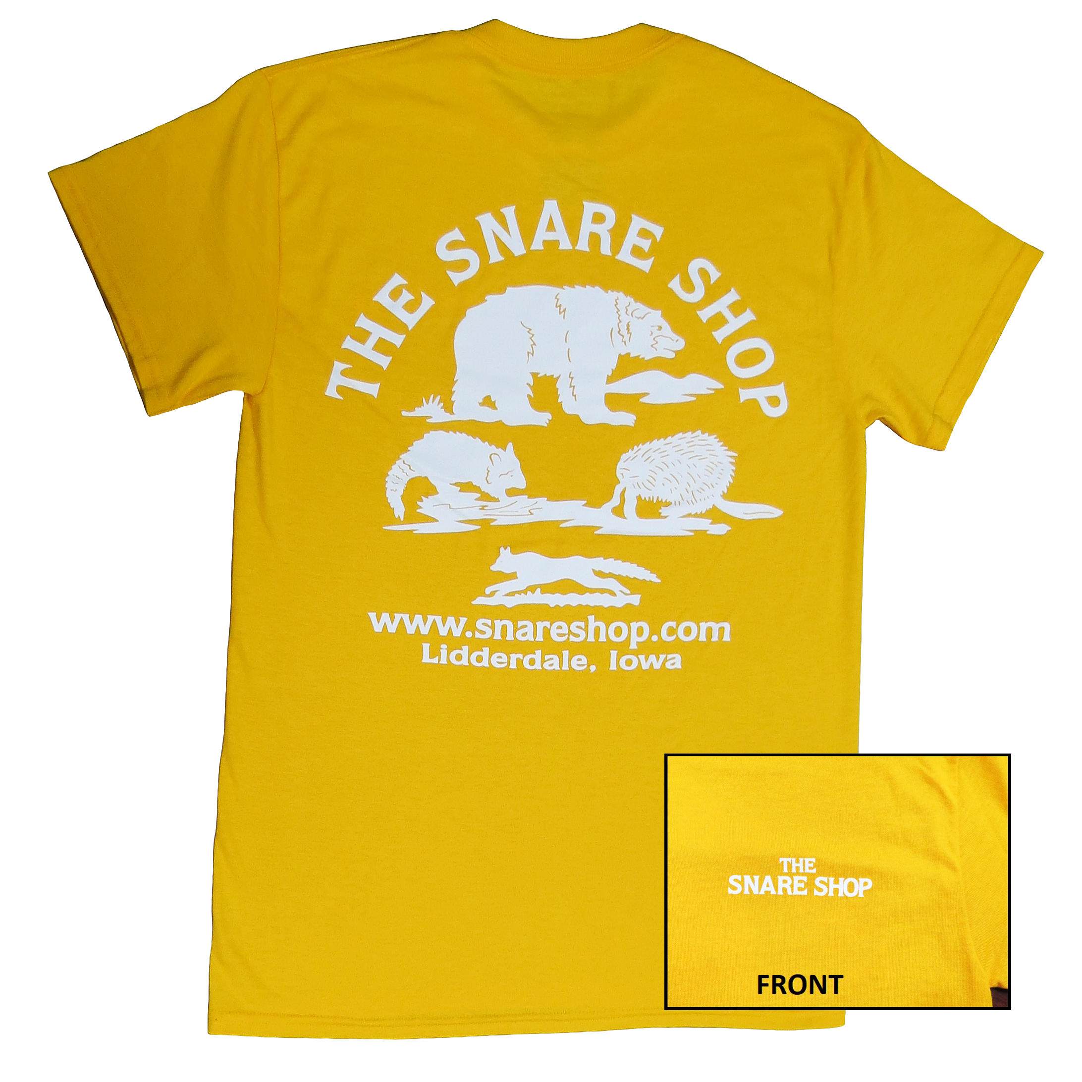 The Snare Shop Adult T-Shirt - Gold