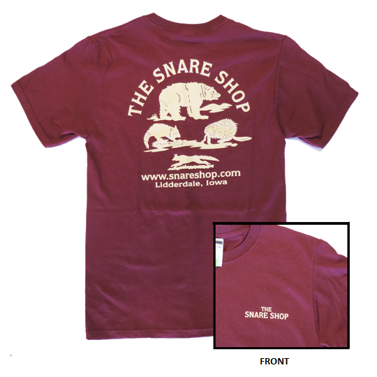 SNARE SHOP T-SHIRT - MAROON