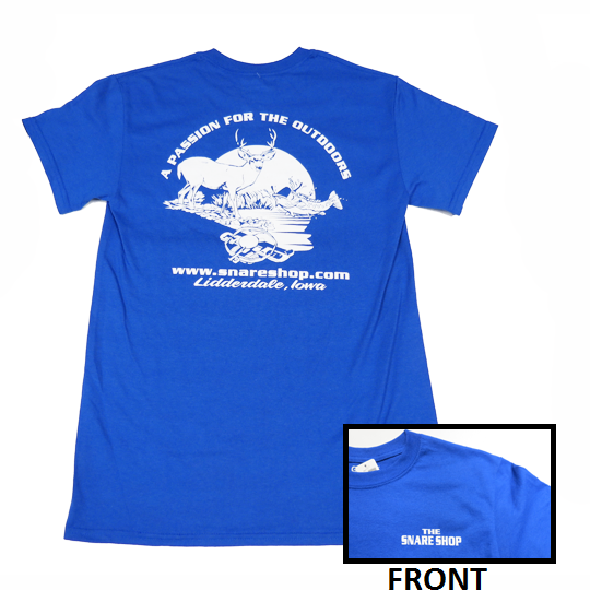 SNARE SHOP PASSION FOR THE OUTDOORS T-SHIRT - BLUE
