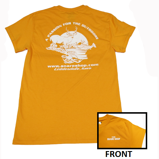 SNARE SHOP PASSION FOR THE OUTDOORS T-SHIRT - ORANGE