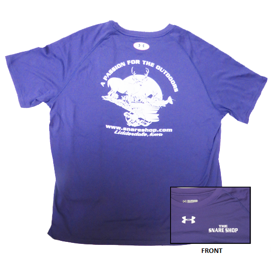 SNARE SHOP UNDER ARMOUR PURPLE SHORT SLEEVE