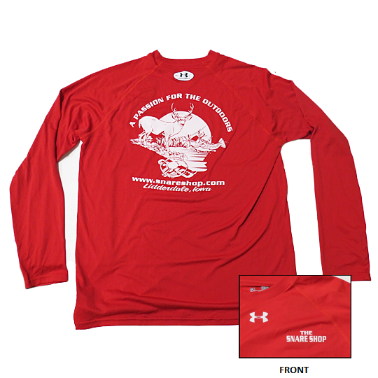 SNARE SHOP UNDER ARMOUR RED LONG SLEEVE