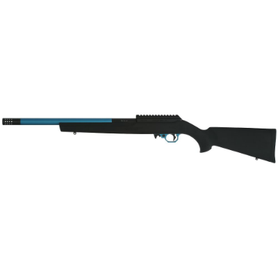 Volquartsen .17 HMR Superlite Blue Sleeve Rifle - Hogue Black