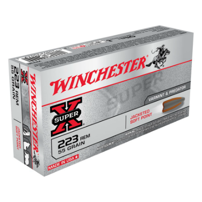 Winchester Super-X .223 Rem 55 Gr Jacketed Soft Point