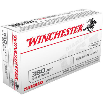 Winchester .380 Auto 95 Gr Full Metal Jacket