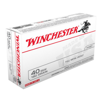 Winchester 40 S&W 180 Gr Full Metal Jacket