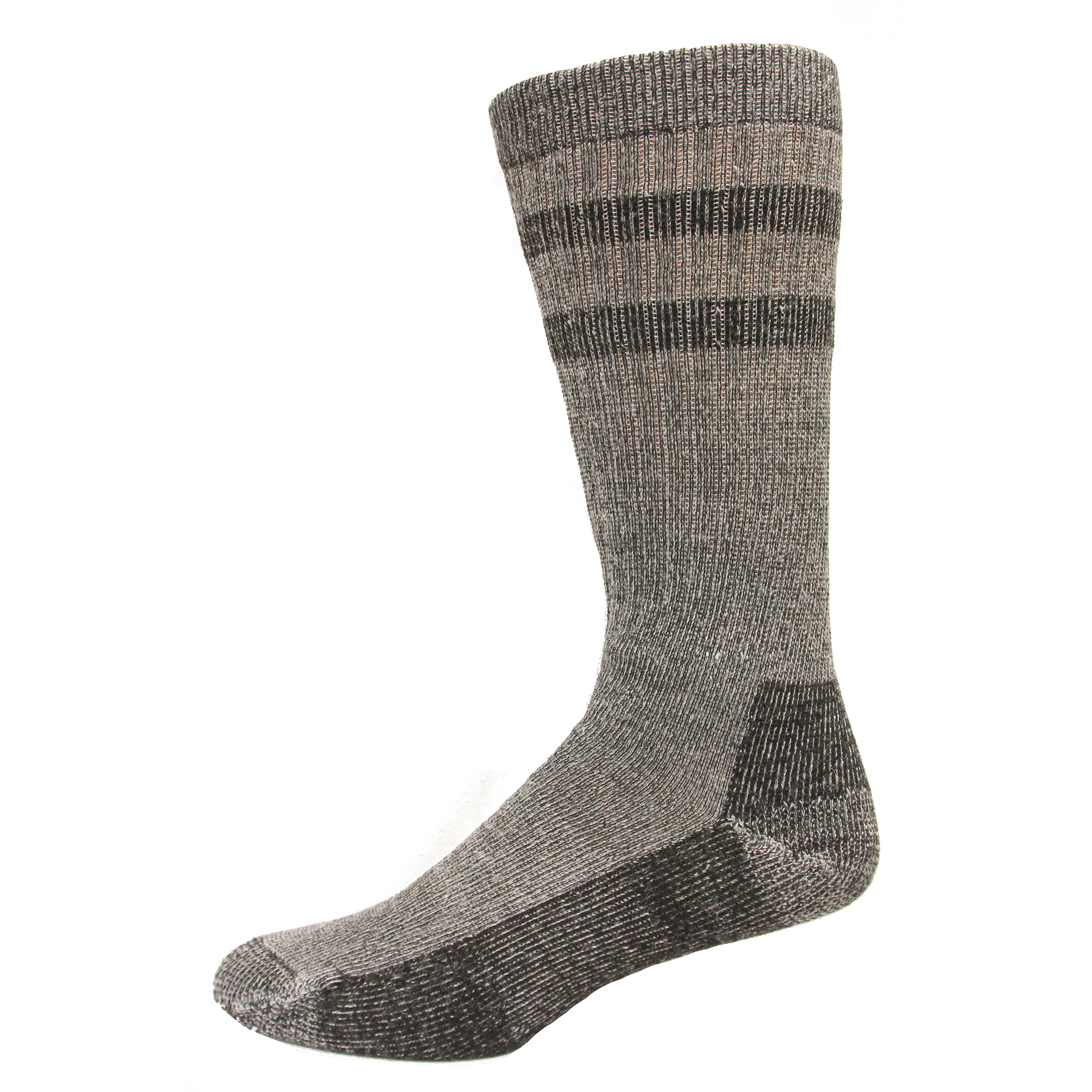 Wise Blend Mens Double Stripe Crew Sock