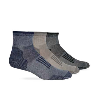 Wise Blend Mens Everyday Quarter Sock