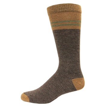 Wise Blend Mens Pinstripe Crew Sock