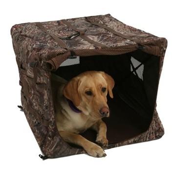 Wildfowler Collapsible Hunting Dog Blind - Wildgrass Camo